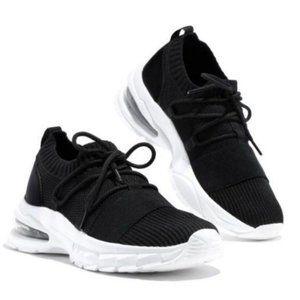 Shoes - Fly Knit Slip On Sneaker in Black